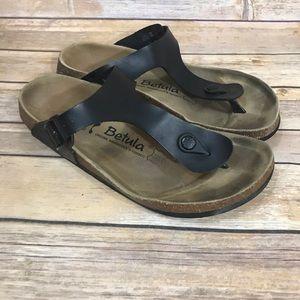 Birkenstock Betula black thong sandals size 41